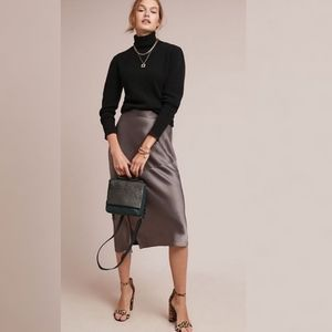 Anthropologie Hutch Satin Midi Skirt Size 4